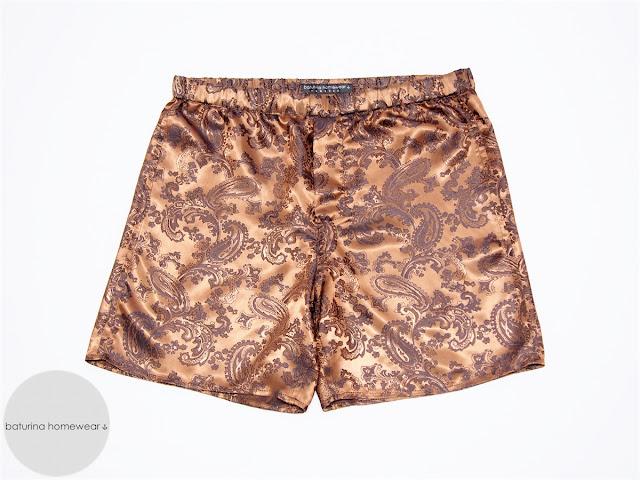 mens boxer shorts paisley silk gentleman underwear nightwear men lightweight silky soft classic pajama bottoms pyjama trousers