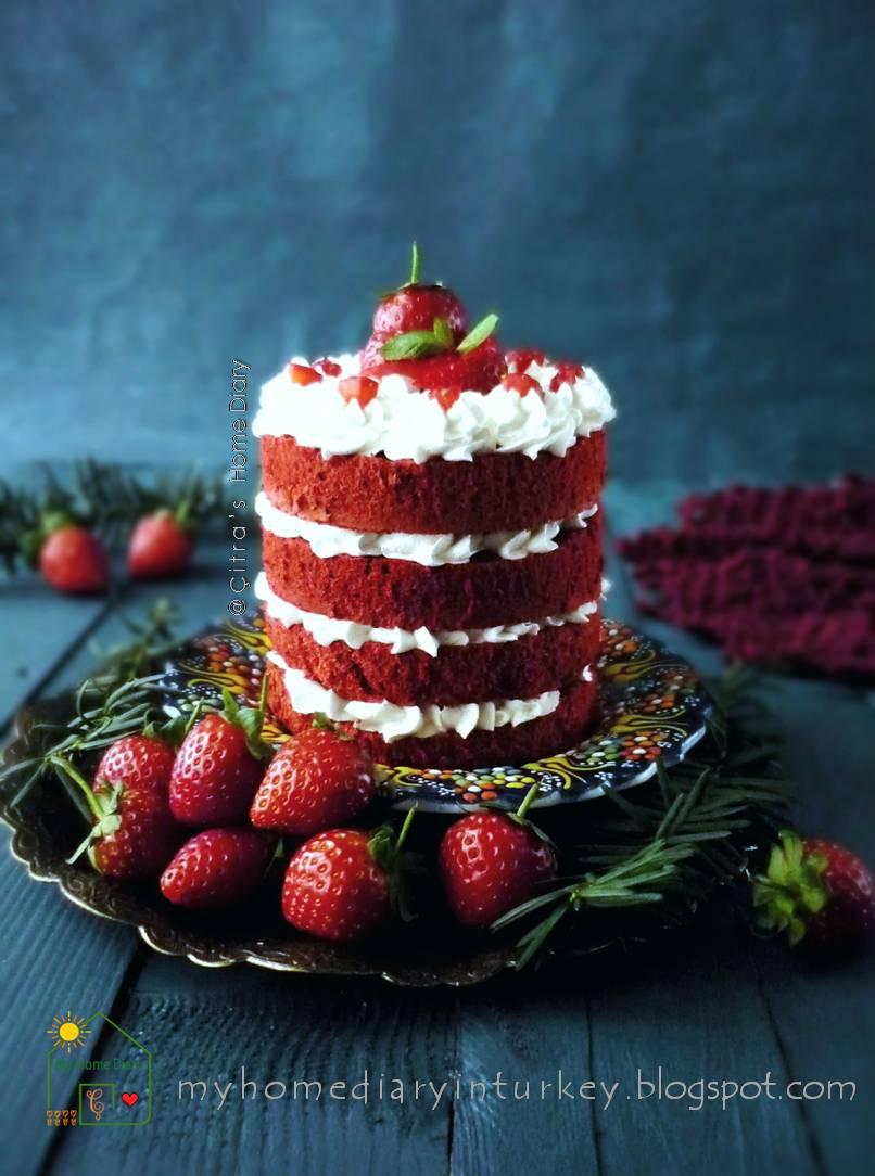 Red Velvet Strawberry Chocolate Cake