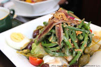 Salad with anchovies and green beans at Le Comptoir du Relais
