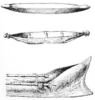 Australian bark canoe types