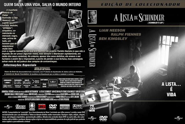 Capa DVD A Lista de Schindler