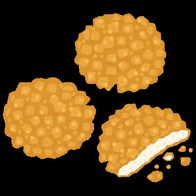 揚げ煎餅のイラスト