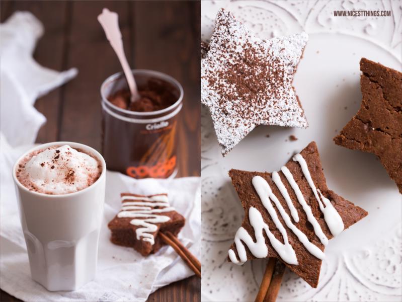 Weihnachtliche Brownie Sterne Rezept mit beckscocoa