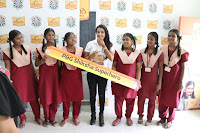 Actress Priya Anand in T Shirt with Students of Shiksha Movement Events 10.jpg