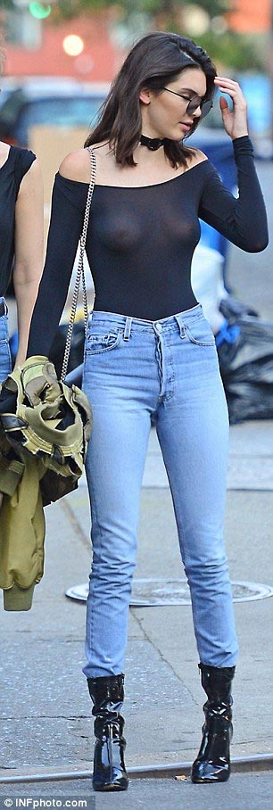 New York: Kendall Jenner steps out braless in see-through top