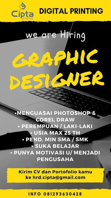lowongan kerja graphic designer cipta grafika jakarta