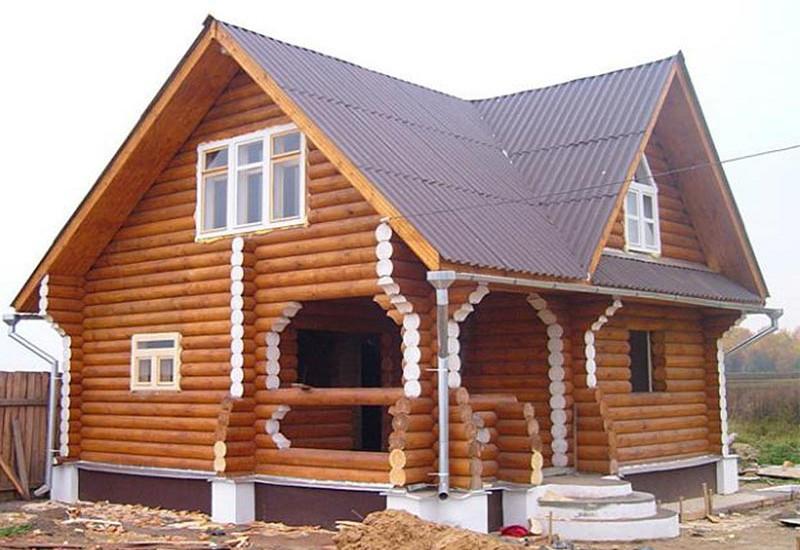 Дом из бревна под ключ цена