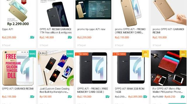 OPPO A71 - SHOPEE.CO.ID
