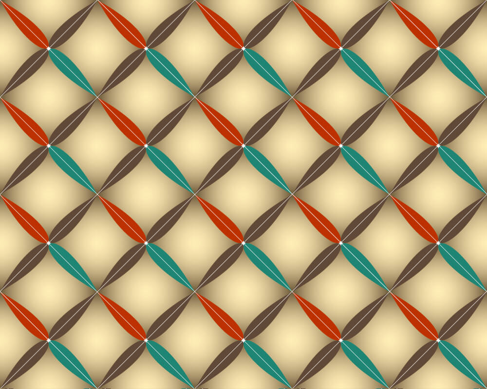 Pattern in rhombus