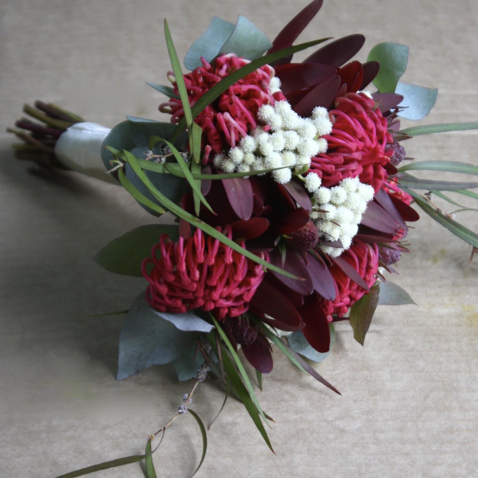 Swallows Nest Farm: Waratah Wedding Bouquets