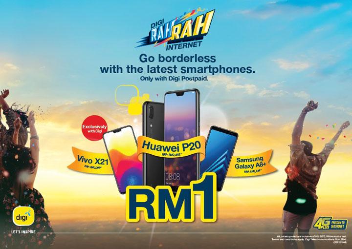 Digi Rah Rah Internet Tawar Smartphone Serendah RM1 Dengan Pelan Digi Postpaid