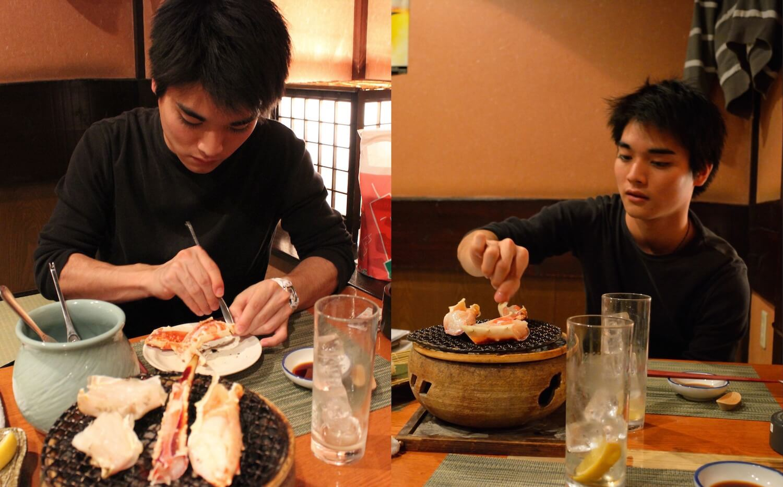 sapporo izakaya crab barbeque