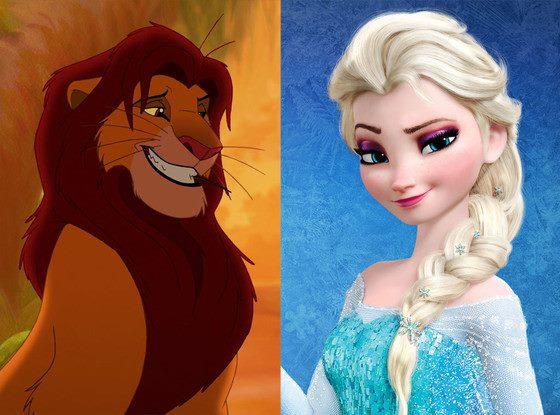 Rei Leão e Frozen (foto: E!)