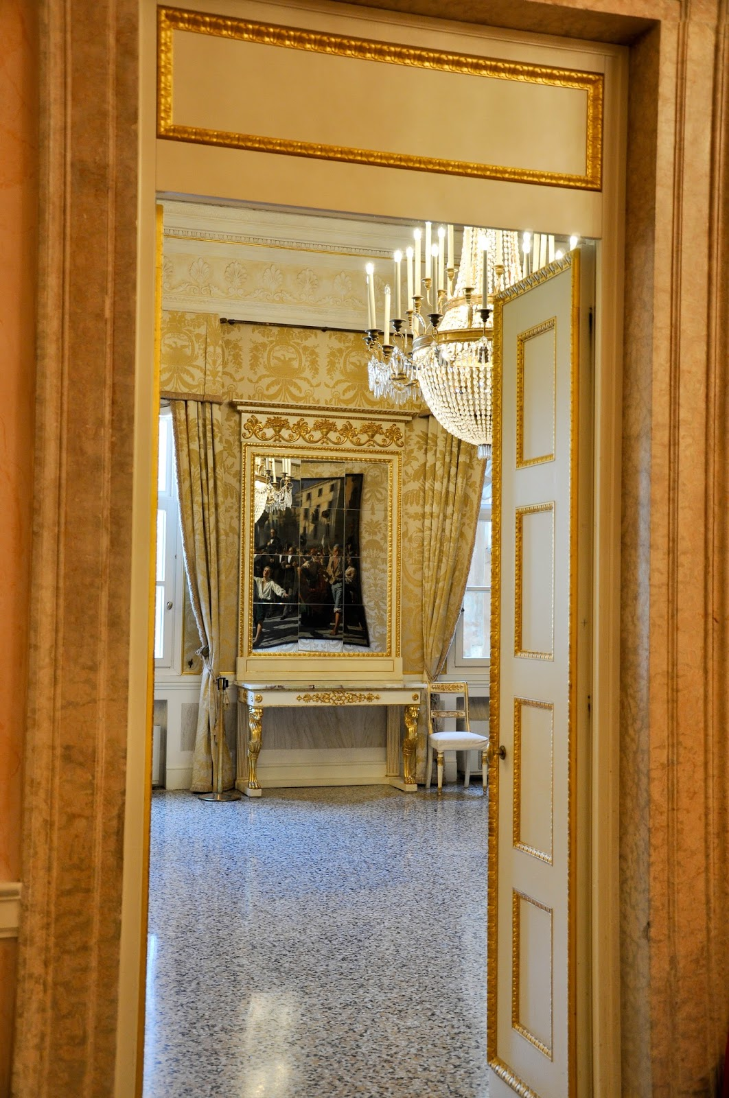 Into the room, La Fenice, Venice, Italy