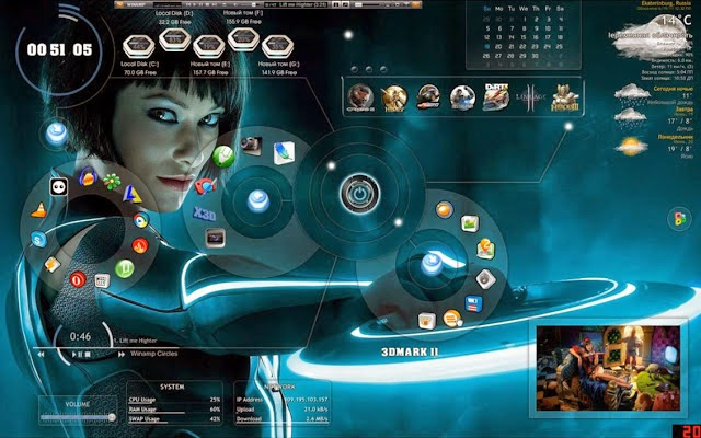 3D Desktop themes free download