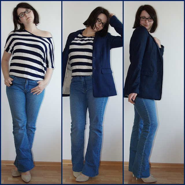 [Fashion] Casual Business Stripe Love - Jeans, Boyfriend-Blazer und Streifenshirt