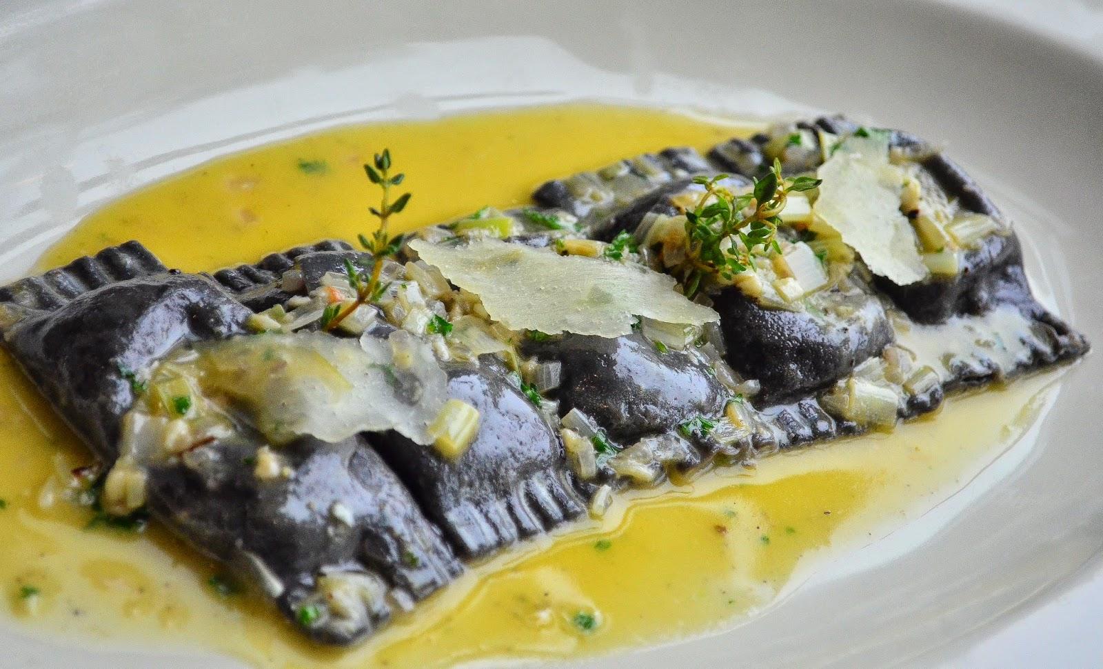 Black Ink Seafood Agnolotti Prego