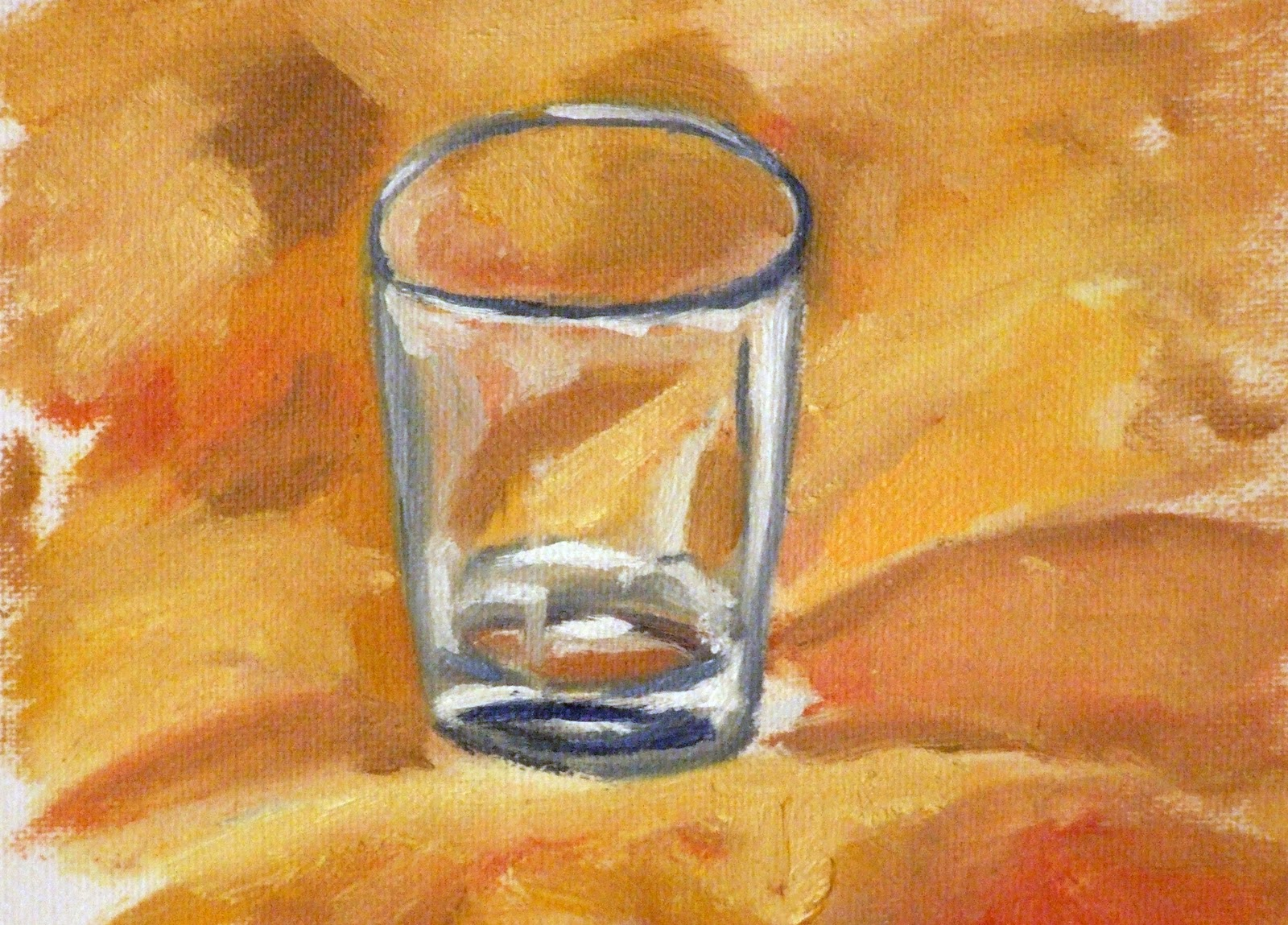 shot glass painting