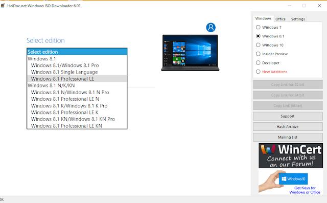 تحديث أداة windows iso downloader تحميل جميع نسخ الويندوز والأوفيس كاملة وبالمجان