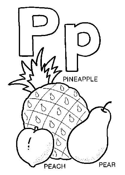 free coloring pages the letter p | Let's Start Colouring!: Abjad