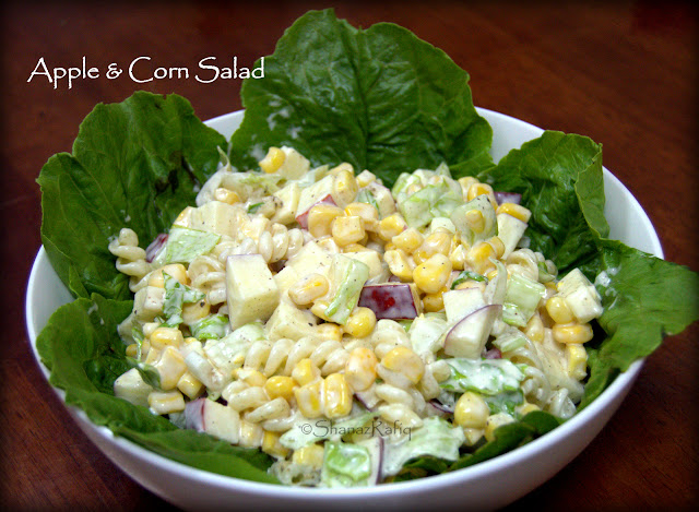 Apple Corn Pasta Salad