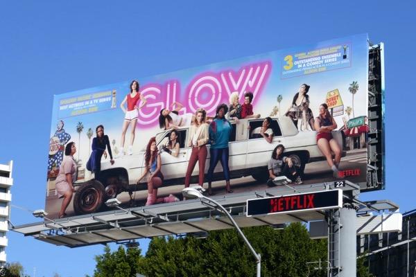 GLOW season 2 Golden Globe nominee billboard