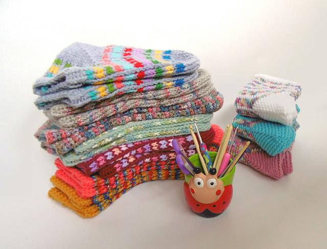 -crochet - heegeldatud -sokid -põlvikud -socks -slippers -handmade