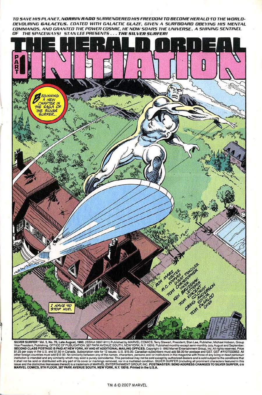 Read online Silver Surfer (1987) comic -  Issue #70 - 3
