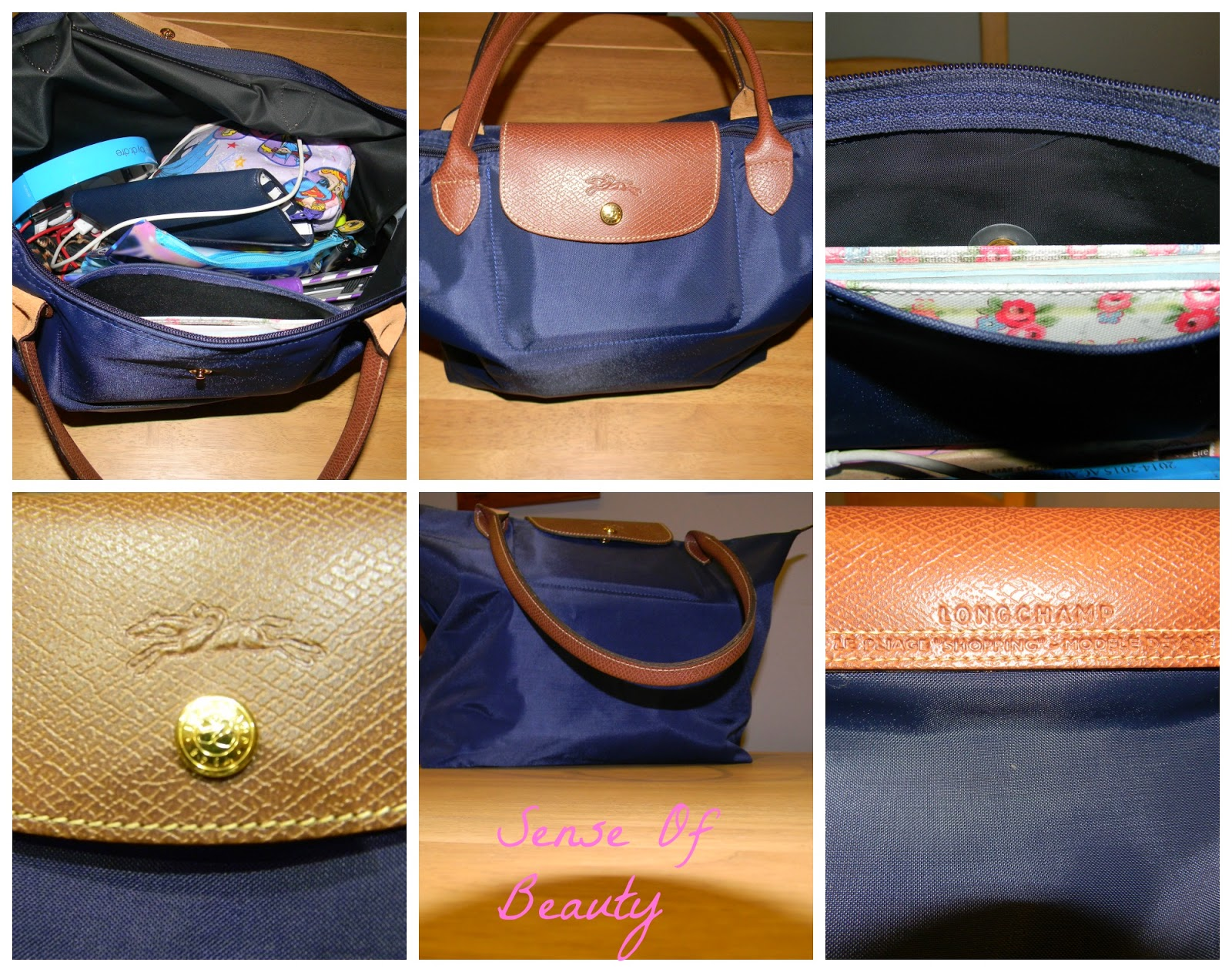 4d753240c761 The bag I purchased was the Longchamp Le Pliage in the size large. I bought  the bag in the colour navy. The bag is navy with brown leather features and  ...