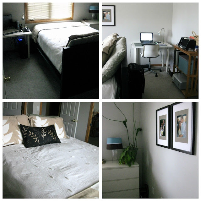 Bedroom Office: Beginner Beans: Small Space Bedroom Office Layout
