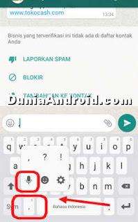 Cara ketik pesan WA dengan suara di HP Samsung