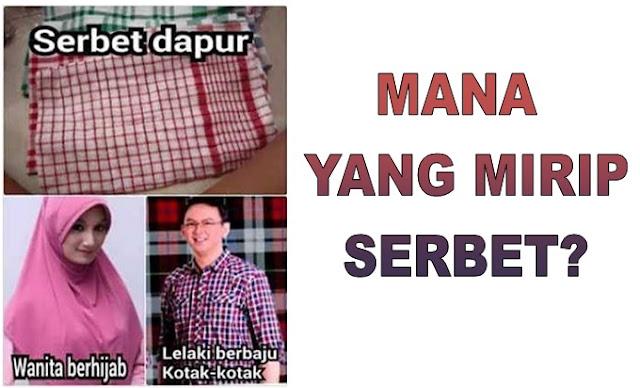 Sungguh Keterlaluan Ahok Sebut Jilbab Sekolah Mirip Serbet, Netizen Membalas Dengan Meme