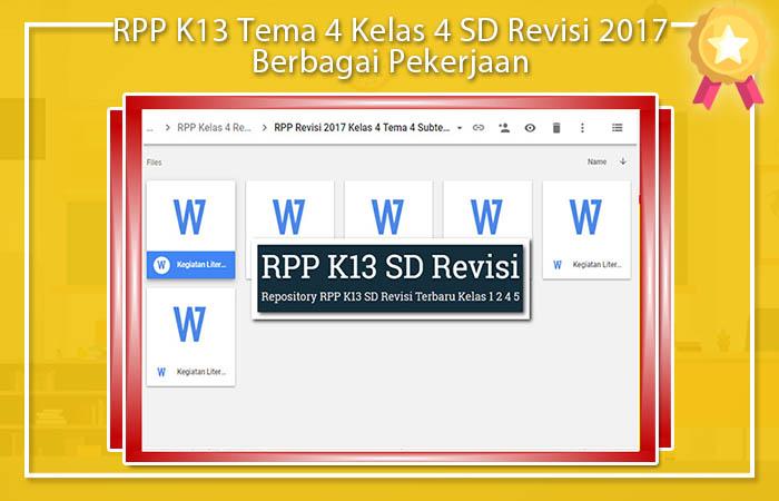 Materi Kelas 4 Tema 4 RPP K13 SD Revisi 2017