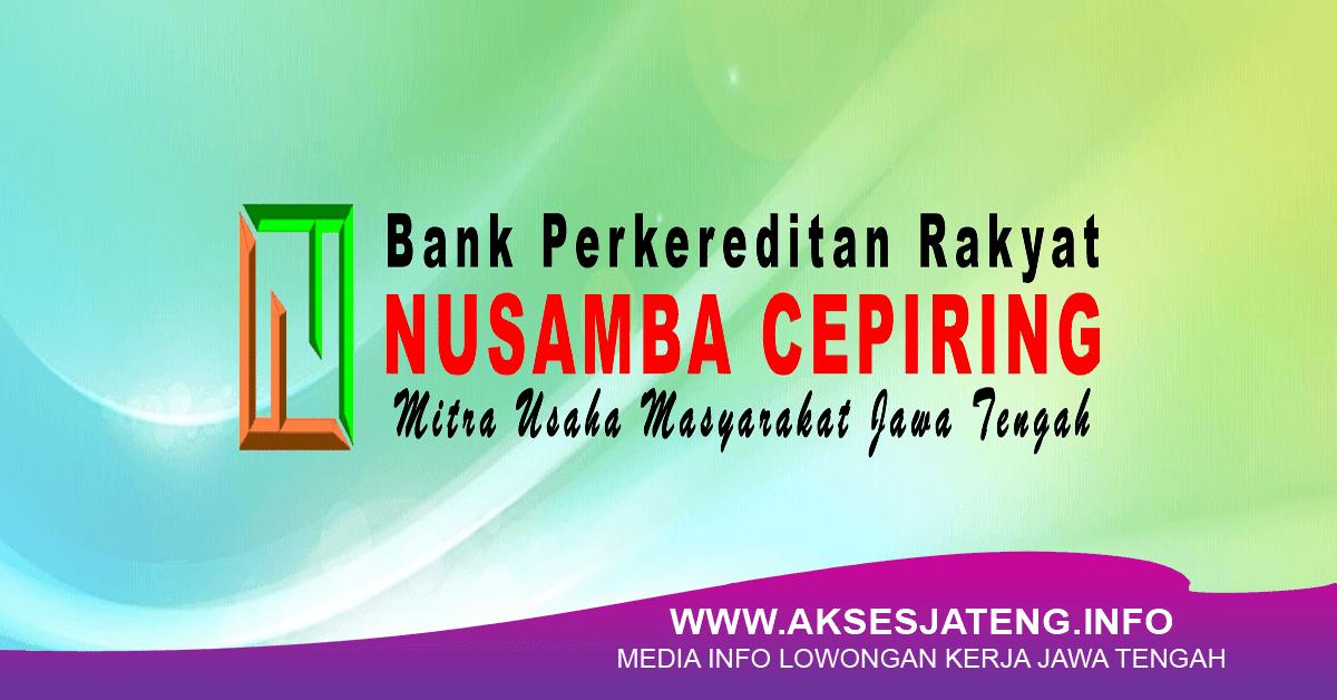 Lowongan PT BPR Nusamba Cepiring Ungaran Februari 2018