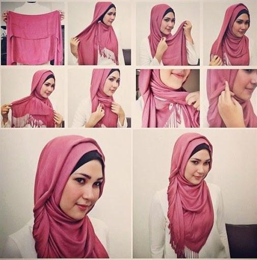 Gambar tutorial hijab terbaru