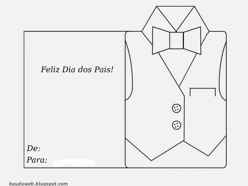 Bau Da Web Lembrancinha Dia Dos Pais Cartao Camisa Para Imprimir