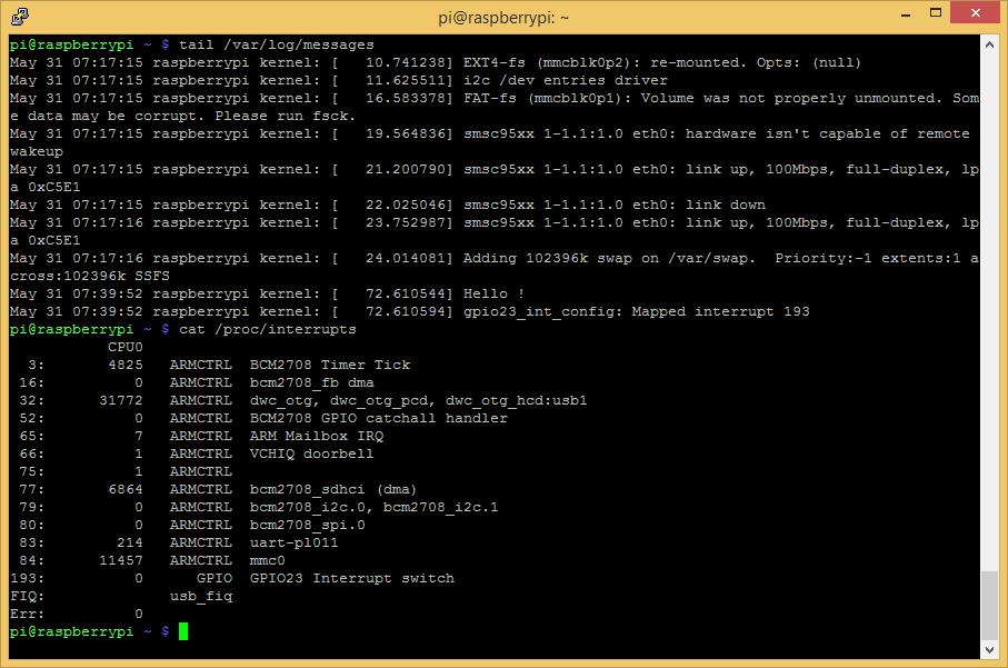 Lightsurge: Using Rapsberry Pi's GPIO as an interrupt source II