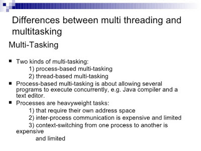 multi-threading and multitasking