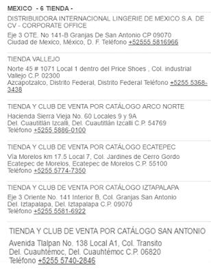 tiendas leonisa en mexico