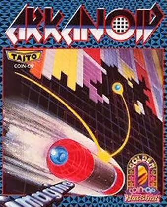 Imagen con la carátula de ordenadores de 8 Bits de Arkanoid, desarrollado por Imagine
