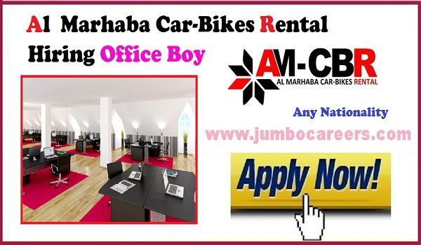 Latest jobs in Dubai, Al Marhaba car-bikes rental jobs in Dubai,