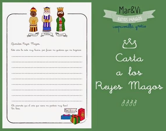 Carta a los Reyes Magos para imprimir