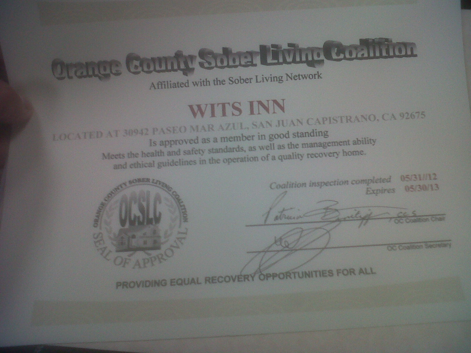 Orange County Sober Living Wits Inn Recovery