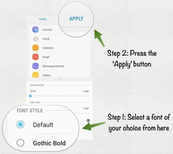 Cara Ganti Font di Galaxy S8 dan S8 Plus