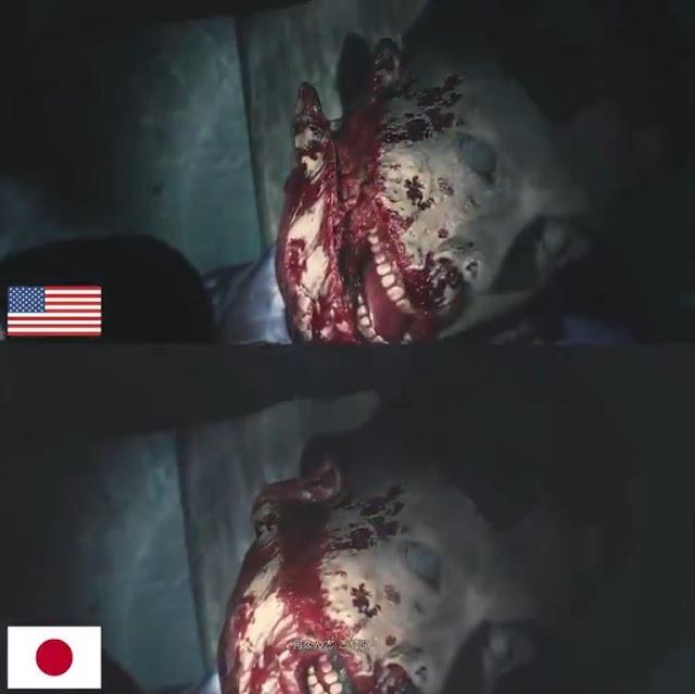 شاهد بالفيديو الفرق بين نسخة لعبة Resident Evil 2 العالمية و اليابانية ، اختلافات واضحة