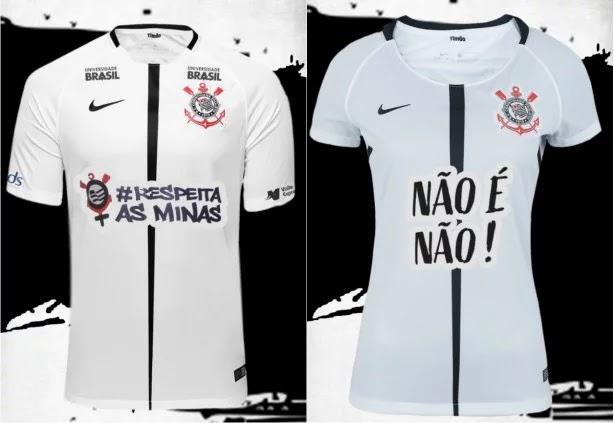 b9e2576f22 Corinthians estampa frases em defesa das mulheres em sua camisa ...