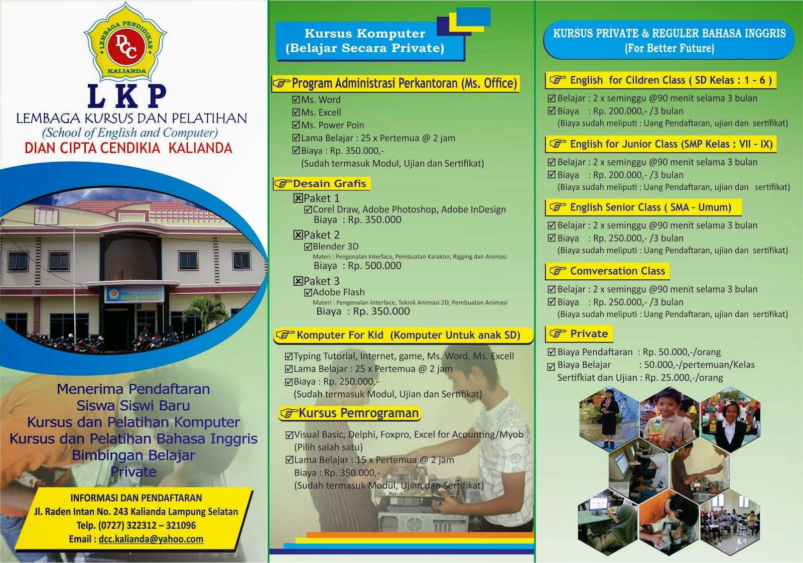 Brosur Untuk Pendidikan Madrasah Menggunakan CorelDRAW