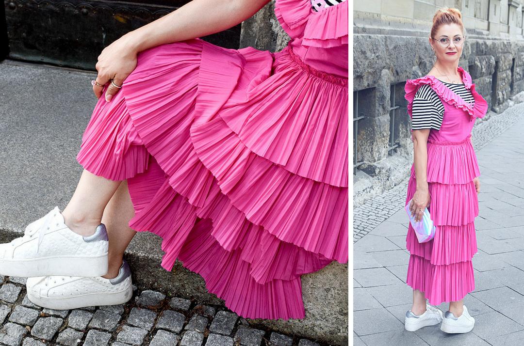 weiße Plateausneaker, Modeblog für Frauen über 30 und über 40
