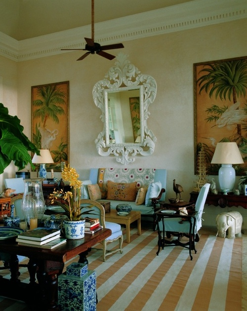 Other elements for your tropical British Colonial interior include mosquito netting draped around beds for a fun touch and bamboo shades for covering ... & Eye For Design: Tropical British Colonial Interiors