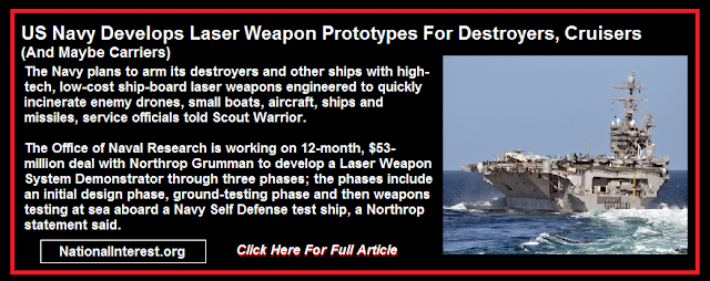 US Navy Develops Laser Weapon Prototypes For Destroyers, Cruisers